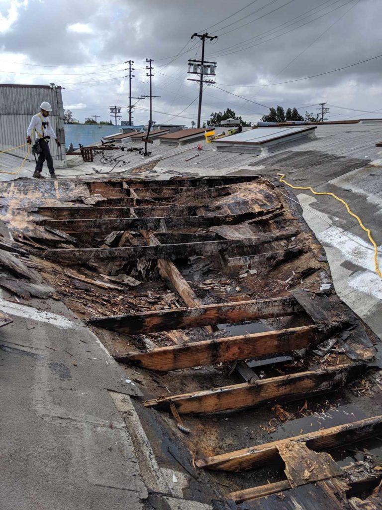 commercial roof leak repair